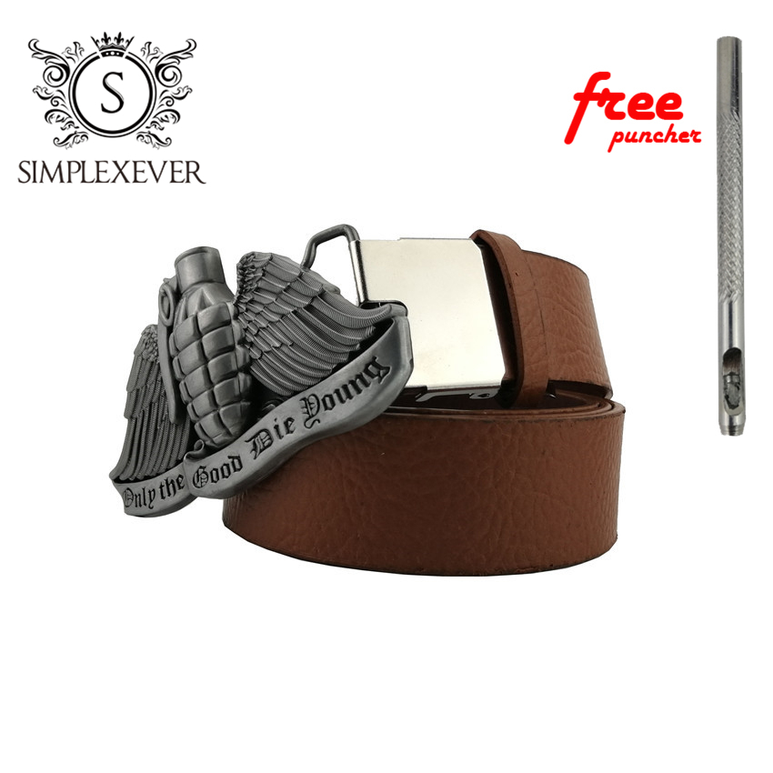 Silver Men's Belt Buckle 3D Cowboy And Cowgirl Metal Tool Western Belt Buckles With Leather Belt As New Year Gifts