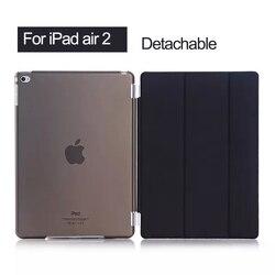 ل ipad الهواء 2 حالة الترا سليم خفيفة الوزن الذكية حامل غطاء ل أبل ipad 6 9.7 بوصة اللوحي مع السيارات النوم/ويك ميزة