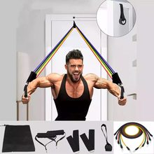 Bandas de resistência puxar corda esporte conjunto expansor yoga exercício de fitness tubos de borracha banda estiramento treinamento em casa ginásios treino elástico