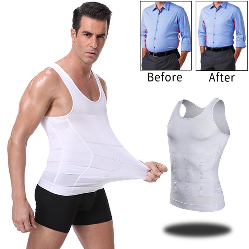 Men Slimming Body Shaper Waist Trainer Cincher Abdomen Tummy Control Shapewear Vest Modeling Underwear Corrective Posture Corset