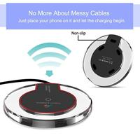 Wireless Charger for iPhone X Xs MAX XR 8 plus Fast Charging for Samsung S8 S9 Plus Note 9 8 USB Phone Charger Pad 5
