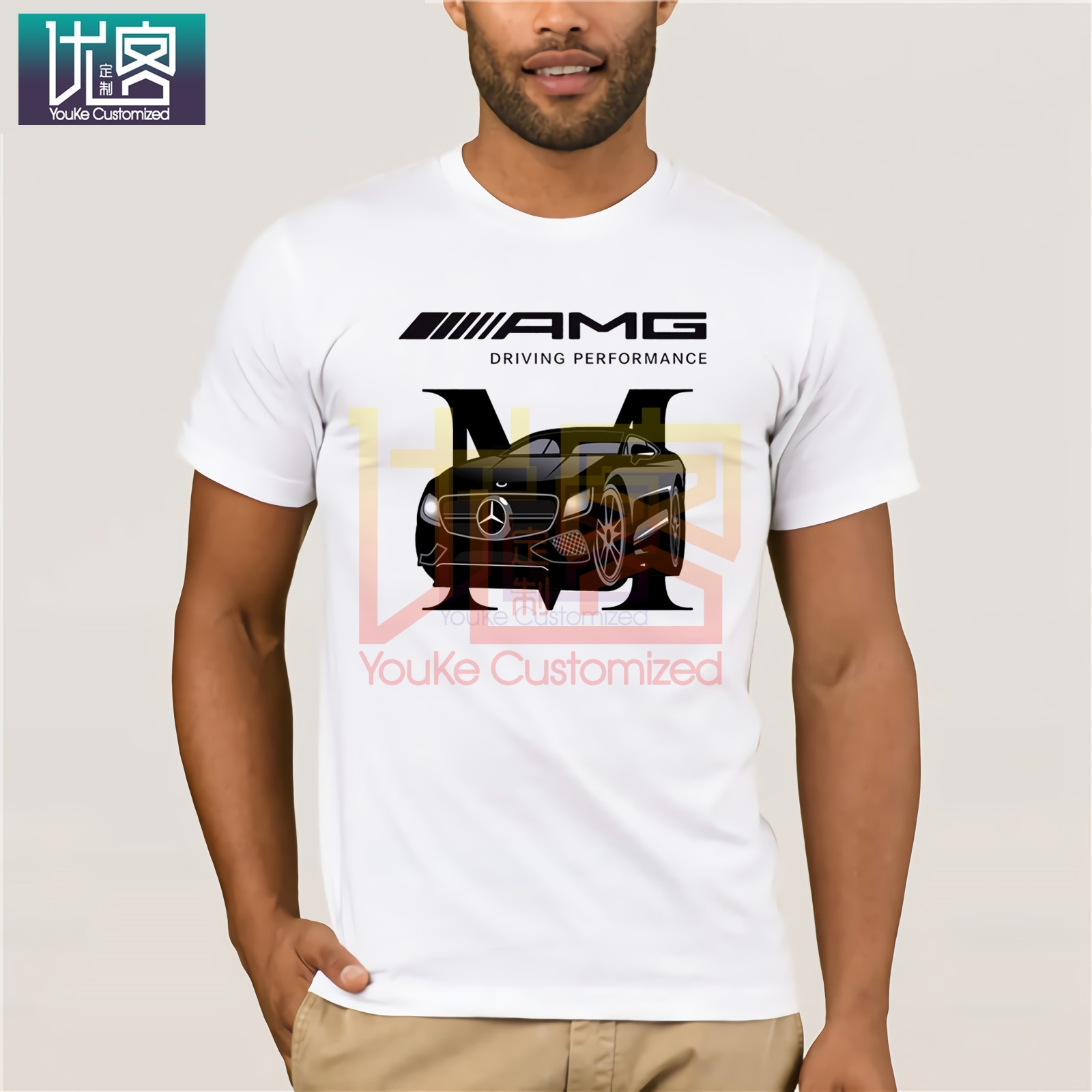 New Summer <font><b>F1</b></font> Car Styling Mercedes AMG <font><b>T</b></font> <font><b>Shirt</b></font> Men Plus Size Clothing image