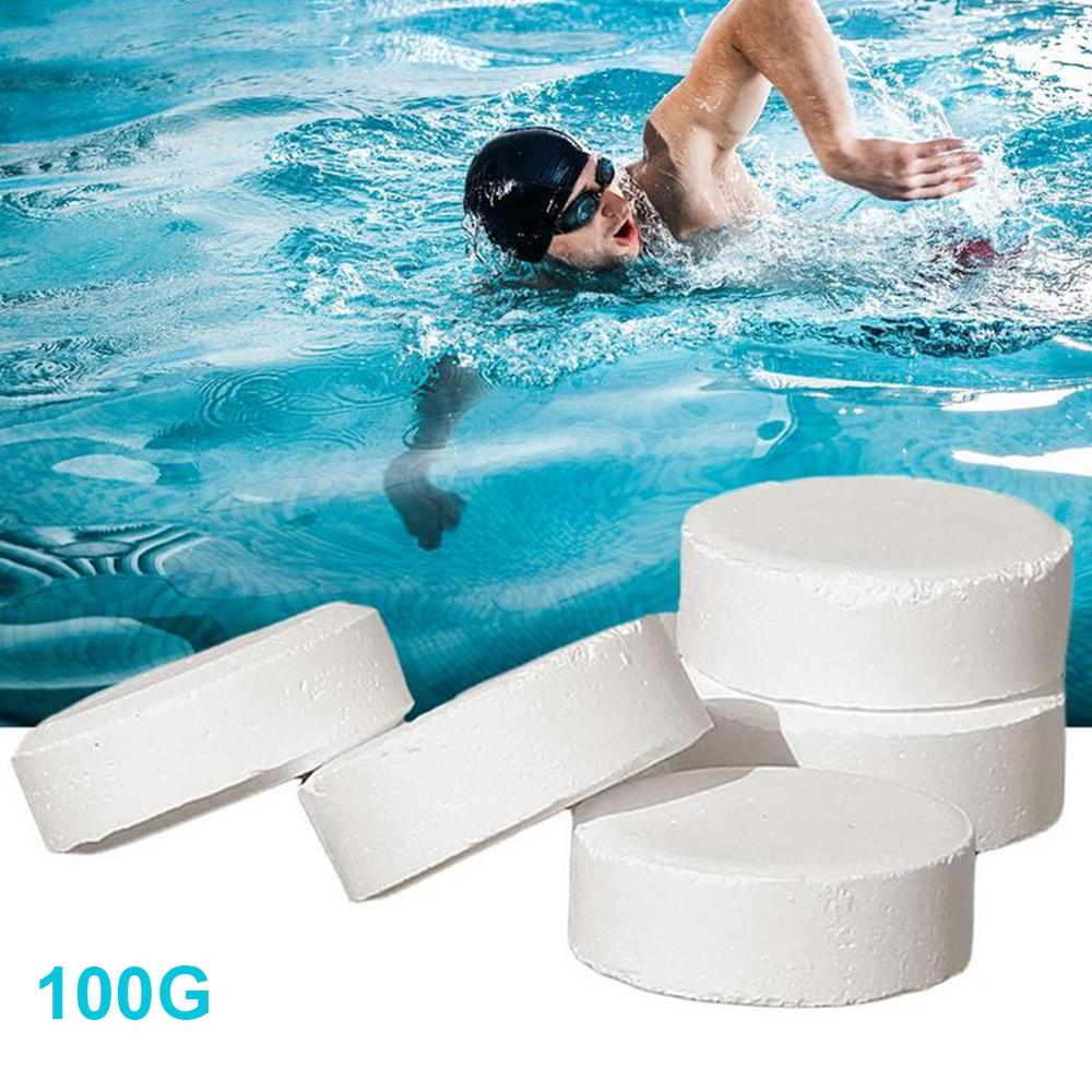 100G Swimming Pool Disinfection Tablets Pool Disinfector Pool Water Sterilizer Pool Disinfecting Chlorine Tablets Sterilization