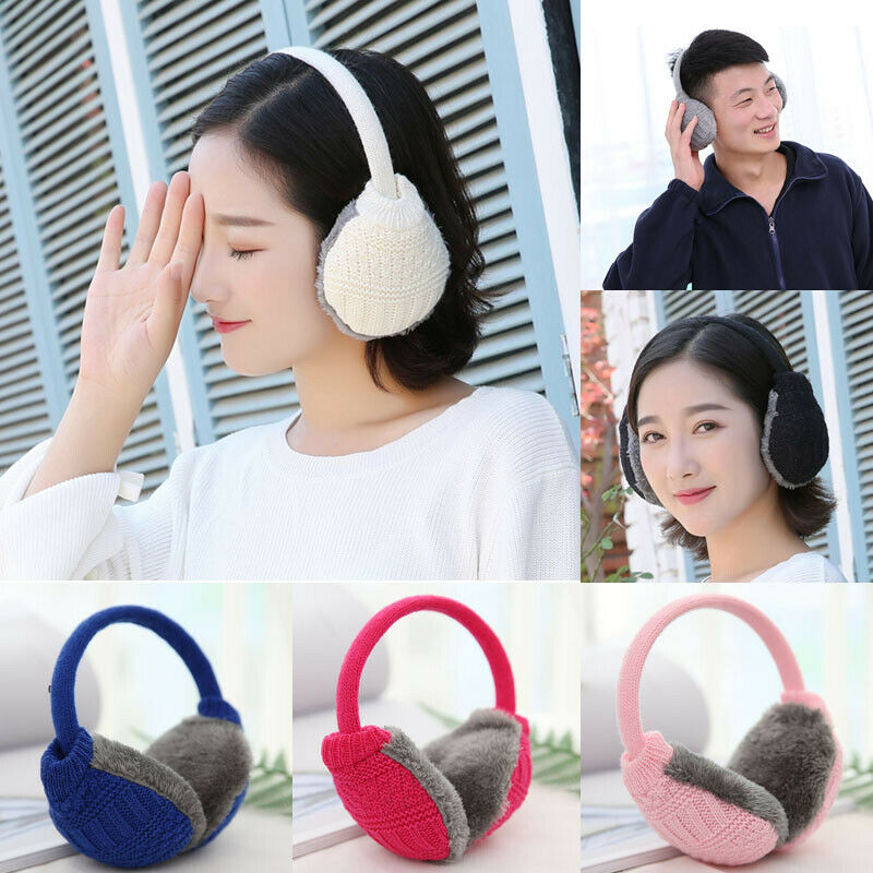 Solid Color Women Winter Warm Knitted Earmuffs Ear Warmers Muffs Men Women Men Earlap Cover