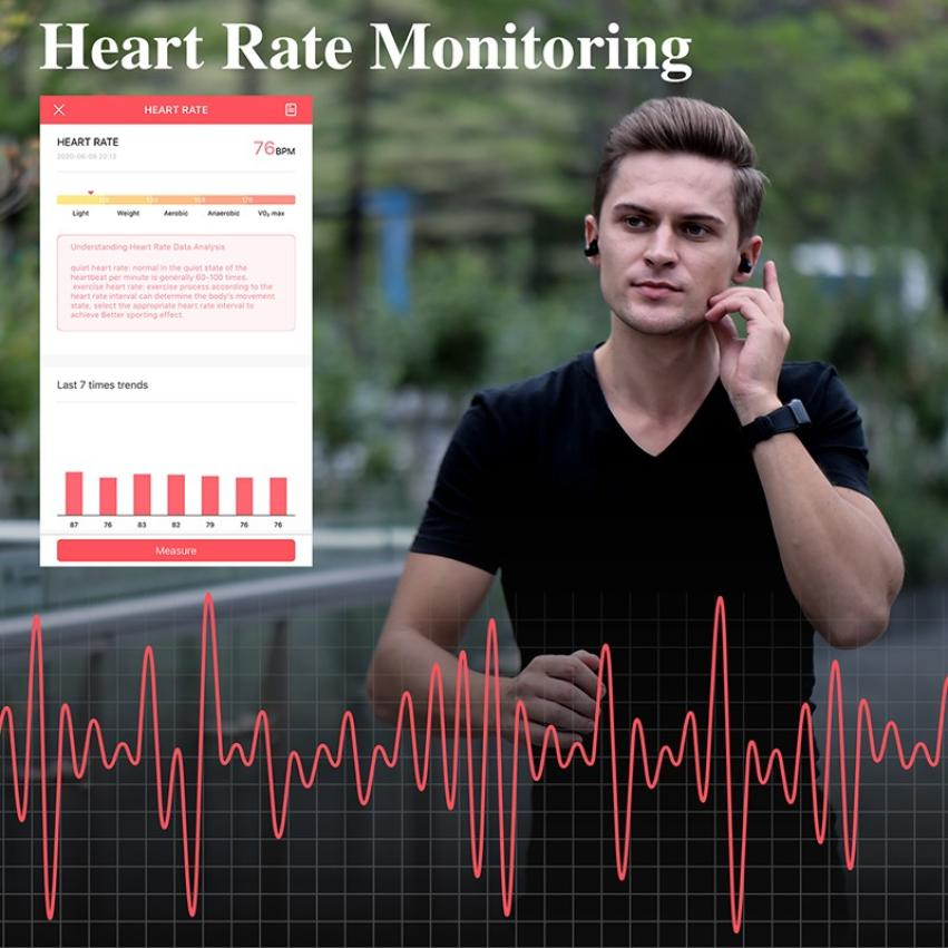 S300 Bluetooth Call Smart Bracelet TWS Smart Earphone 2-in-1 Pedometer Heart Rate Blood Pressure Call Reminder Smart Band Watch (7)
