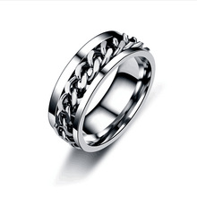 Ring Male Chain Turns Ring Trend Open Bottle Ring Male Punk Style Ring Cool Metal Multicolor