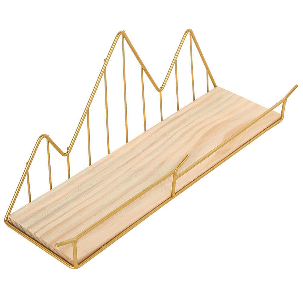 Estante de hierro para pared de madera estante de almacenamiento para montar en paredes Organización para la cocina dormitorio hogar Decoración chico habitación DIY decoración de Pared Soporte