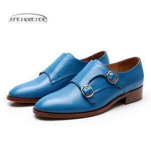 Image 4 - Yinzo mieszkania damskie Oxford buty kobieta oryginalne skórzane buty sportowe damskie letnie platformy Brogues Vintage obuwie dla kobiet