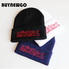 2019 New High Quality ROBLOX Game Wool Cap Embroidery Knit Cap Pullover Cap Student Hip Hop Ski Caps(China)