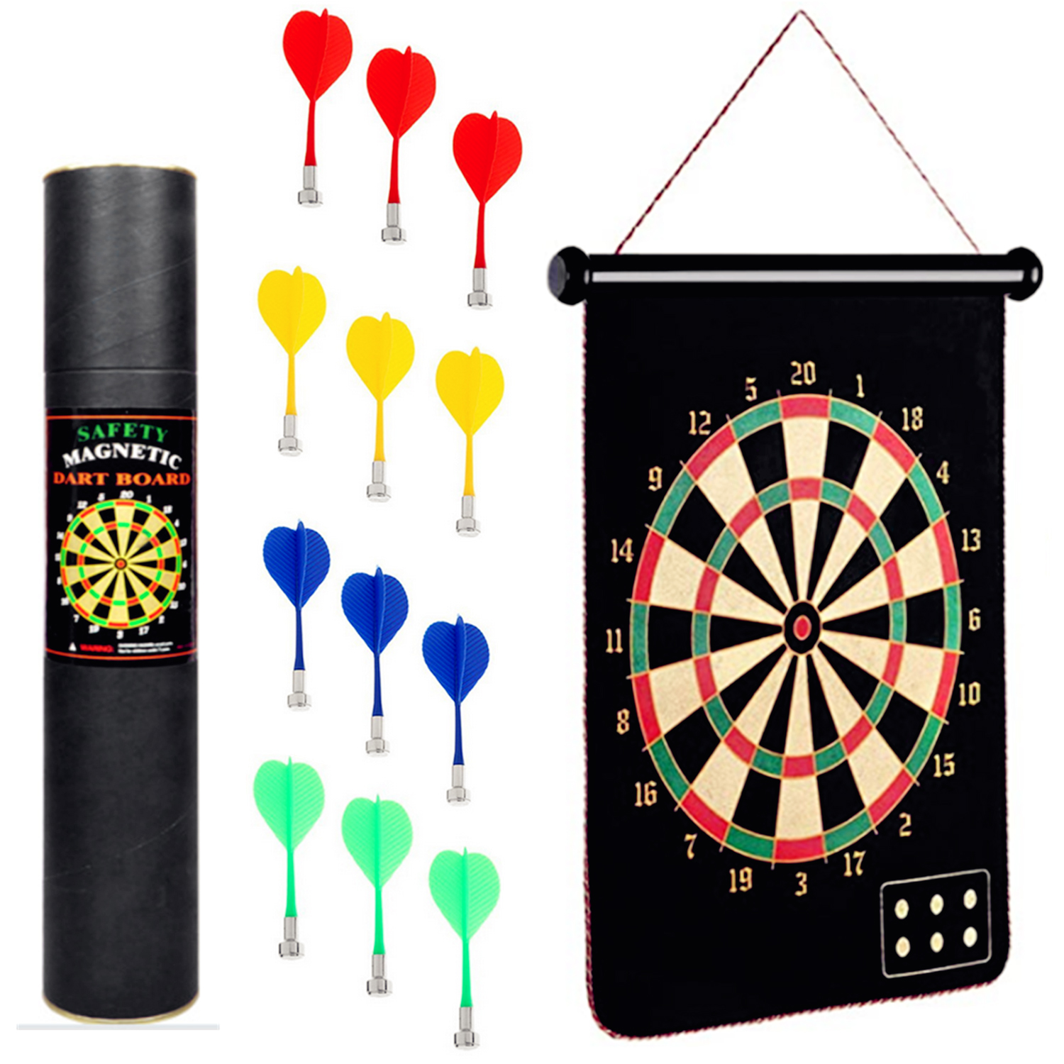 15/17 Inch Double Sided Magnetic Dart Board Dartboard Darts Suit With 12 Darts For Home Offices Dormitories Dart Game Board Toy