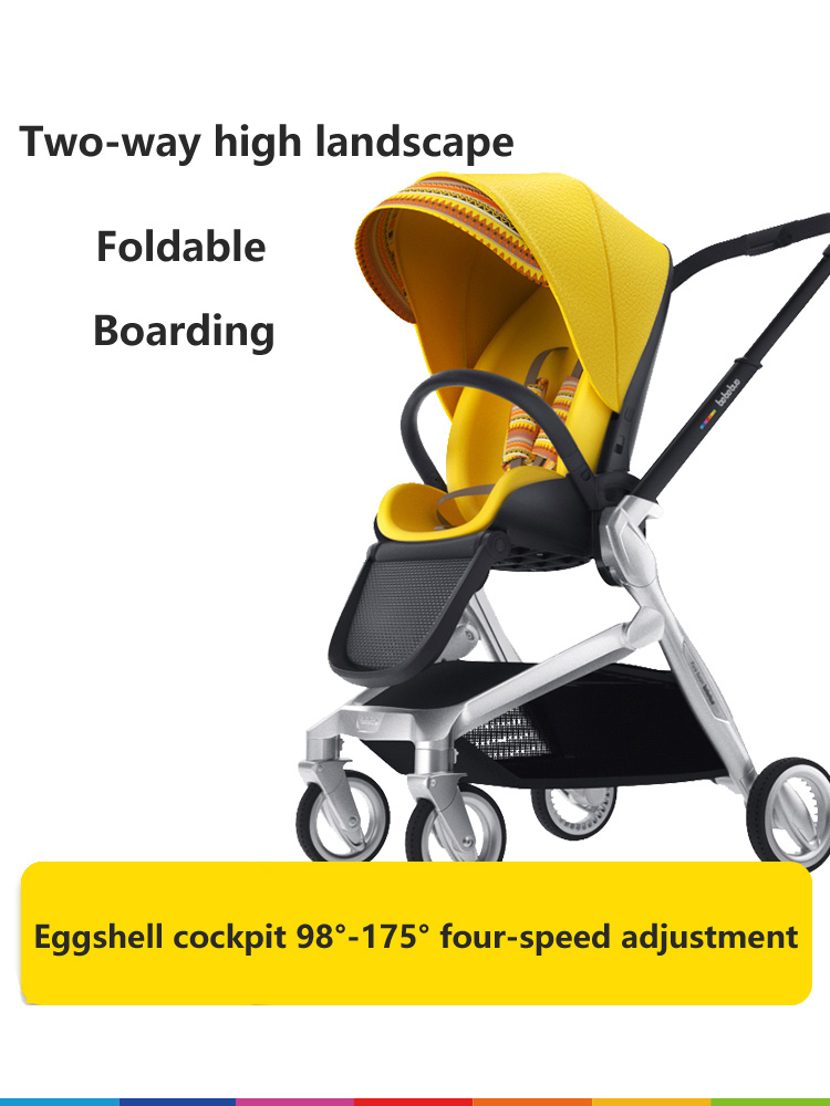 Baby Stroller Bi-directional Light High Landscape Can Sit On The Reclining Folding 0-3 years old baby