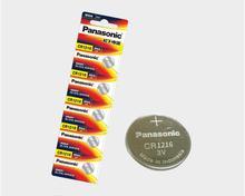 цена на 100pcs/lot Panasonic CR1216 ECR1216 DL1216 BR1216 LM1216 5034LC CR 1216 3V Li-ion Button Cell Battery Coin Batteries