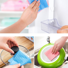 5 Packs Microfiber Disposable Kitchen Towel Household Nonwovens Cleaning Cloth Dish Accessories wholesale