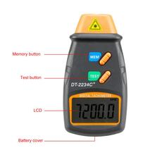 цена на Mini Digital Laser Tachometer Non Contact LCD Digital Laser Photo Tachometers 2.5-10WRPM Tach Meter DT-2234C Speed Meter