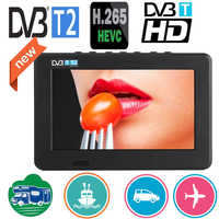 LEADSTAR 7 inch Portable Mini Tv Full Compatible With DVB-T2 H265/Hevc DVB-T/H264 Dolby Ac3 800x480 Support TF Card USB