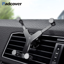 Universal Car Phone Holder Metal Gravity Car Bracket Air Vent Stand Mount For iPhone 8 Samsung Xiaomi Support Telephone Voiture free shipping universal metal white wall mount stand bracket for cctv security camera
