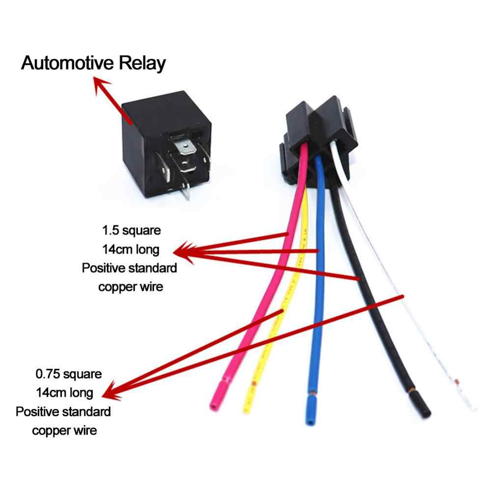10 Pcs 12v Spdt Car Automotive Type Insertion Type Modification Relay 4 Pin 4 Wires 5 Pin 5 Wires W Harness Socket 30 40 Amp Aliexpress