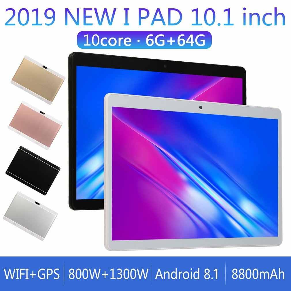 تابلت V10 فاشون بشاشة 10.1 بوصة عالية الدقة إصدار أندرويد 8.1 تابلت محمول تابلت أبيض 6 جيجا + 64 جيجا شاشة LCD LESHP