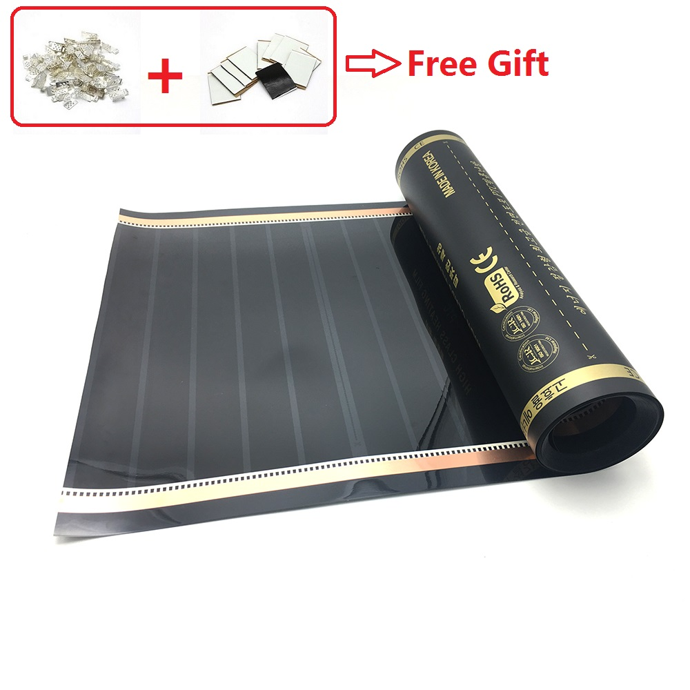 Graphene PTC 240w/m2 Infrared Underfloor Heating Film AC220V Mat Made In Korea