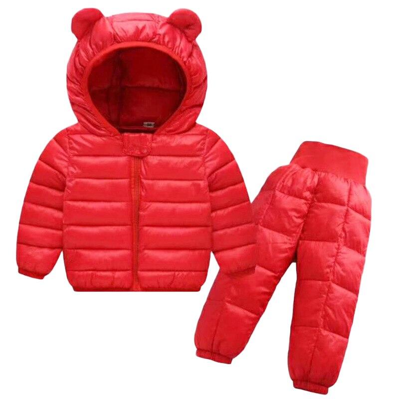 Winter Girls Boys Toddler Coat Kids Down Coat Winter Jackets Girls Outerwear Children Snowsuit Clothes 2PCS Set Doudoune Fille 6