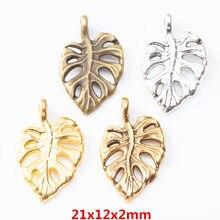 40 pçs da folha do vintage liga de zinco encantos pingente diy pulseira colar jóias metal acessórios 81 acessórios 8131