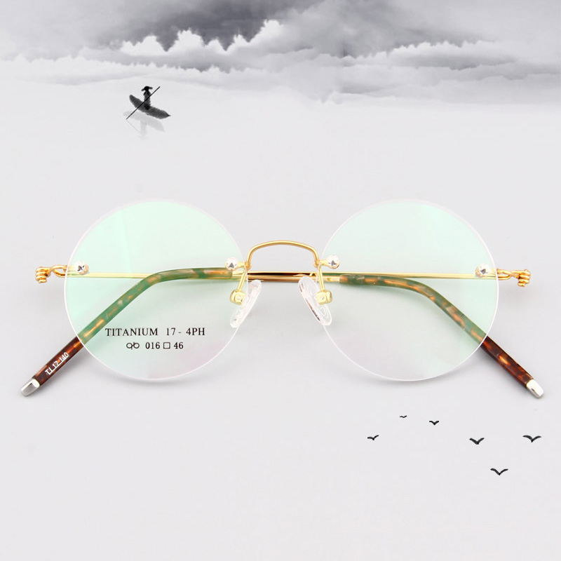 Titanium Rimless Glasses Frame Men Women Optical Eyeglass Frame Myopia Prescription Spectacle Frames Eyeglasses Clear Eyewear