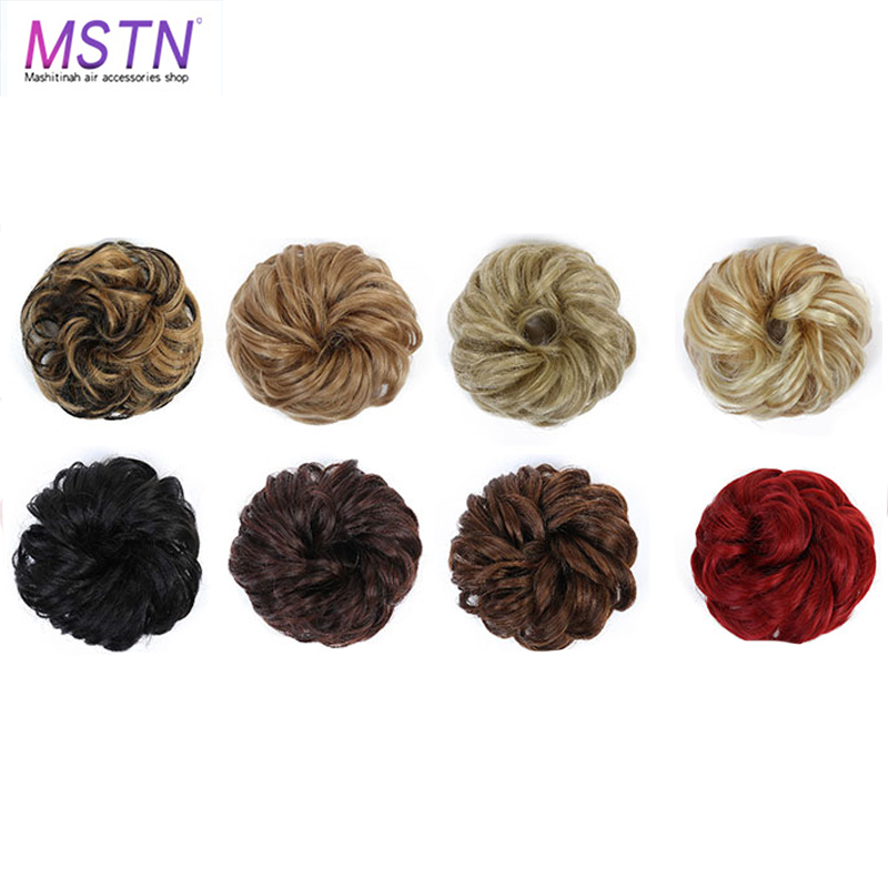 MSTN Ladies Hair Band With Rubber Band Synthetic Hair Wrapped Ponytail Donut Hair Bun Hairpin Headwear