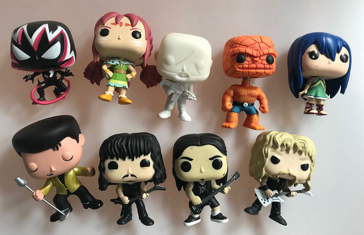 Original Funko Pop Factory Rejects Spider Gwenom, Gold Elvis, Thing Vinyl Action Figure Collectible Model Loose Toy Imperfect