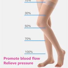 Медицинские варикозные вены носки 2 Класс давления чулки анти пропуск Компрессионные носки до бедер облегчение боли закрывать/открытый носок ноги