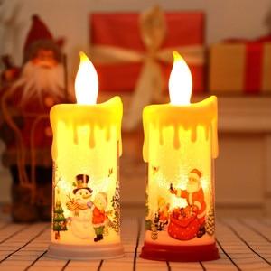 Christmas Teardrop Candle Elec