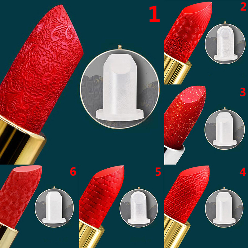 6 Types 12.1mm Lipstick Mold Good Use Lipstick Mould Craft Tool Silicone DIY Lip Balm Cosmetic Mould Holder