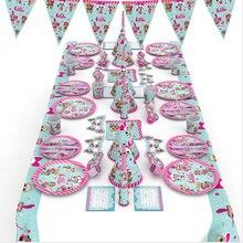 Original LOL SURPRISE dolls Tema de fiesta de cumpleaños figura de Anime Original lols suministros de decoración de muñecas para los regalos de cumpleaños de la niña