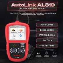 Autel Collegamento Automatico AL319 Strumento di Diagnostica Auto OBD2 Lettore di Codice di Autel Al319 OBD 2 Scanner Automotriz Leggere Cancellare DTC PK elm327 CR3001