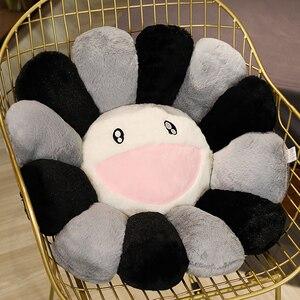 Image 5 - 日本ひまわりフェイスぬいぐるみシートクッションぬいぐるみ虹二重色の花椅子クッション子供のための少女の学校事務所クッション
