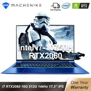 Machenike F117-FPD RTX 2060 Gaming Laptop i7 10750H Intel 144hz Laptops 16GB 512SSD 1T 17.3