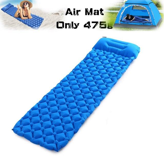 Matelas gonflable de pique nique de matelas dair de tapis de plage avec le coussin de sac de couchage doreiller