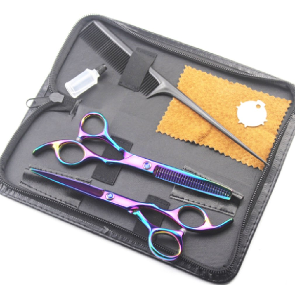 1 Set 17 Cm Colorful Professional Beauty Sheet Shears Dental Scissors