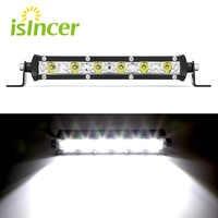 ISincer 24W barra led Offroad Auto Lampadina del Riflettore Della Luce del Lavoro del LED Chip Impermeabile Lampada di Guida PER Off Road SUV 4WD Barca Camion