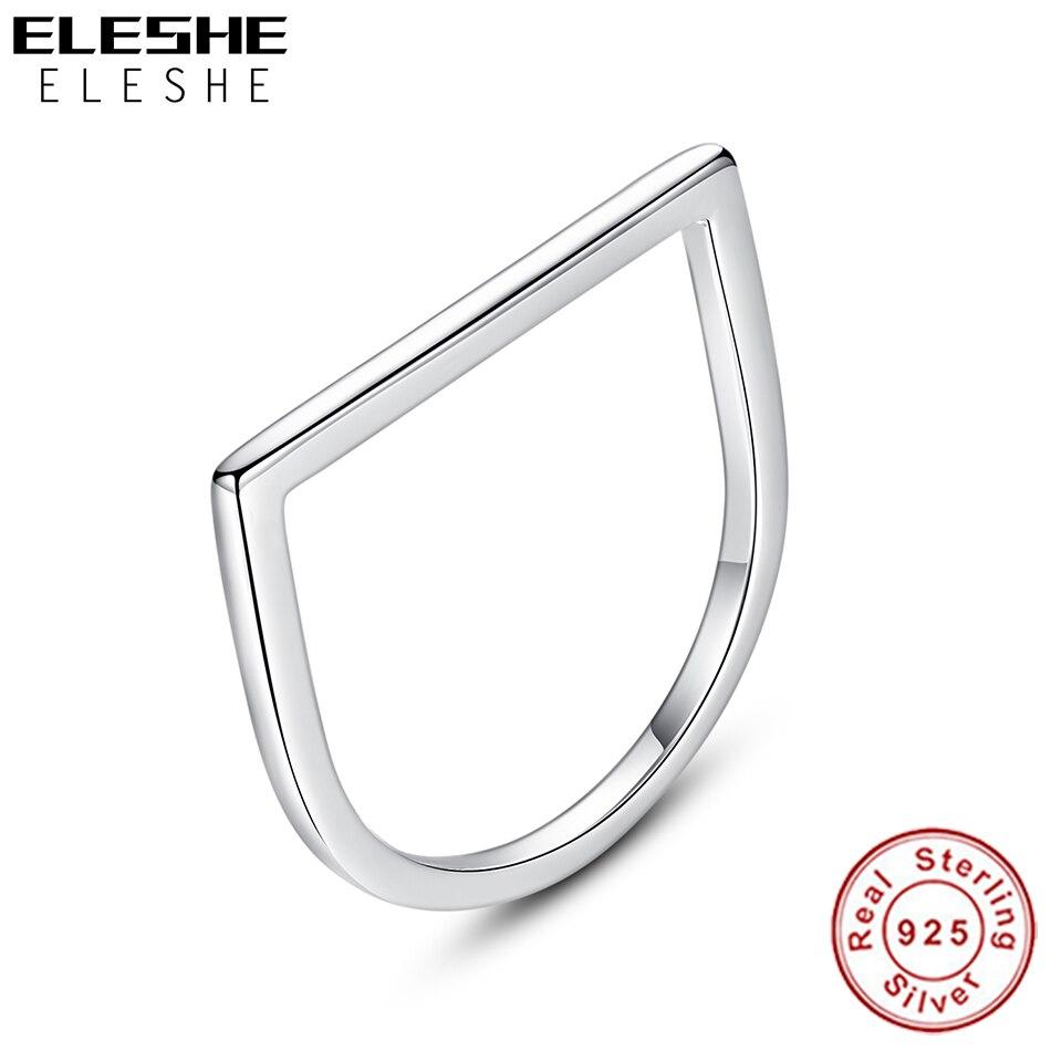 ELESHE-bague carrée pour femmes, bijou en argent Sterling 925, bijou pour les doigts, à la mode, cadeau d'anniversaire de nouvel an, pour filles