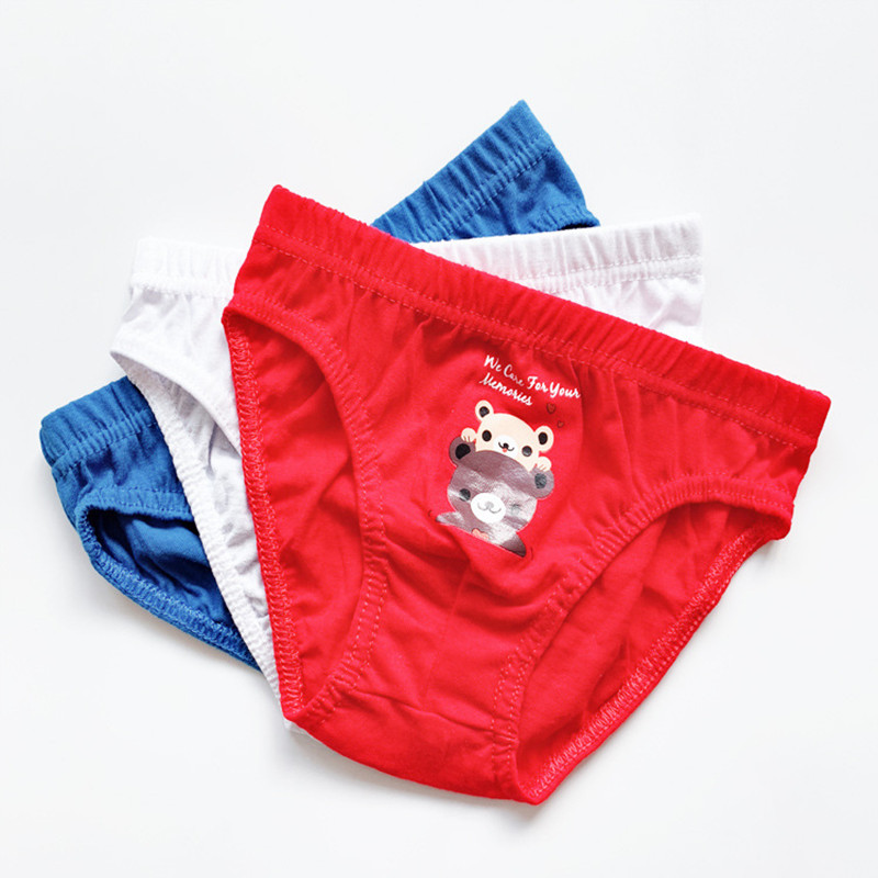 3/pcs Children's Briefs Cotton  Boy Briefs Cotton Briefs Cartoon Kids Underwear Factory Direct Sales 2-8 Years