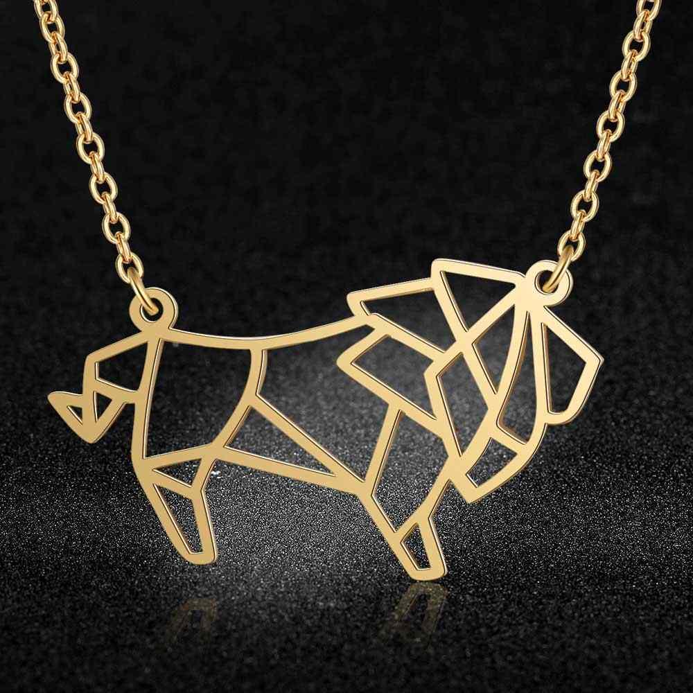 Unikalne zwierząt Lion naszyjnik LaVixMia włochy projekt 100% naszyjniki ze stali nierdzewnej dla kobiet Super moda biżuteria specjalny prezent