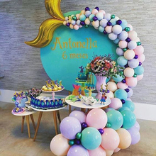 44pcs Mermaid Tail Balloon Arch Girl Birthday Decoration Balloons Garland Party under the sea Wedding decor Ball