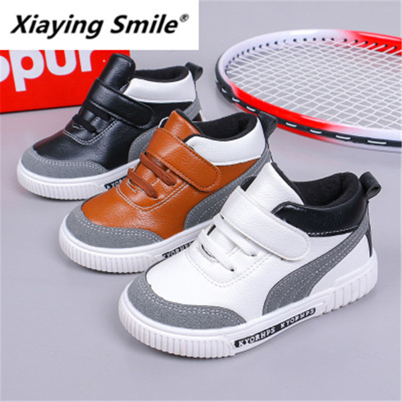 Xiaying Smile New Sports Shoes In Autumn And Winter 2019 Boys' Casual Board Shoes And Cotton Warm Students' Running Shoes 187