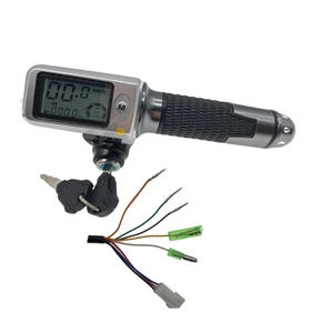 Image 3 - speedometer/odometer+throttle+LCDdisplay36v48v60v+lock/cruise+battery indicator electric scooter bike MTB tricycle DIY part stee