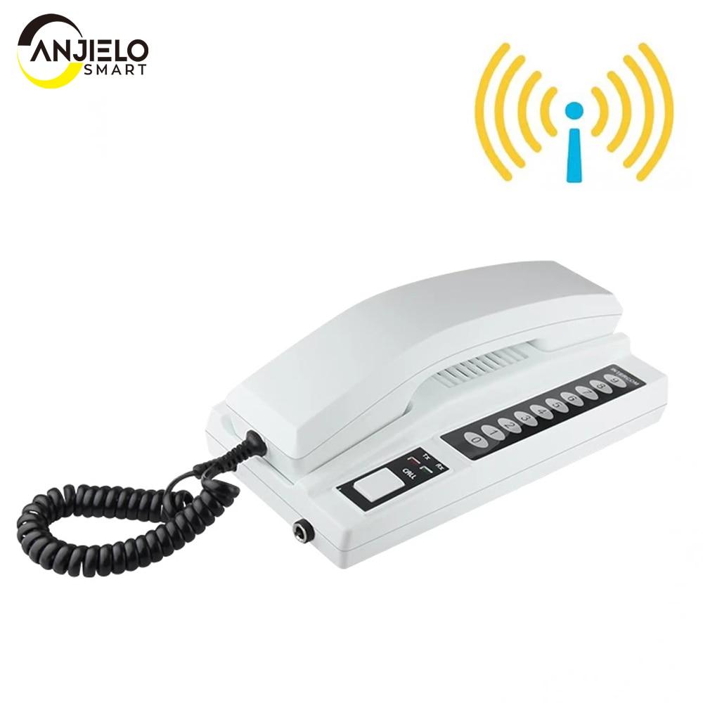 AnjieloSmart Telephone Intercom Wireless Secure Interphone Handsets Expandable for Warehouse Office interphone maison home phone