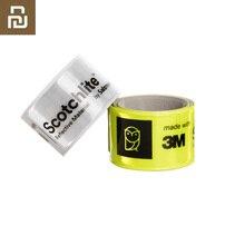 Miaomiaoce pulseira piscando correia de pulso reflexiva aperto automático cinta envoltório banda tapa para ao ar livre