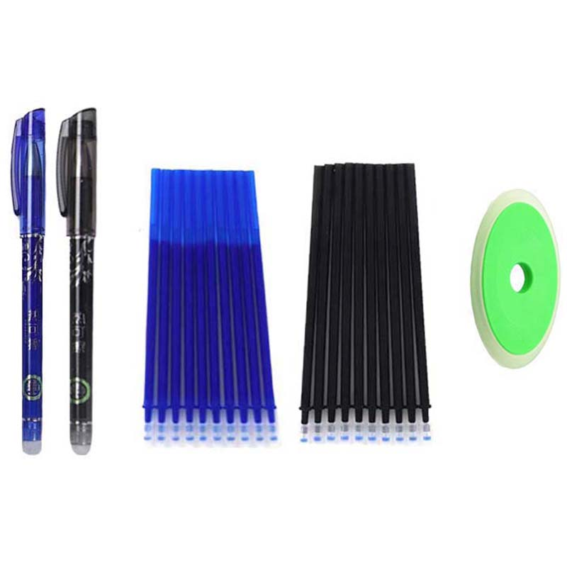 Erasable Pen Set 0.5mm Blue Black Color Ink Writing Gel Pens Washable Handle For School Office Stationery Supplies