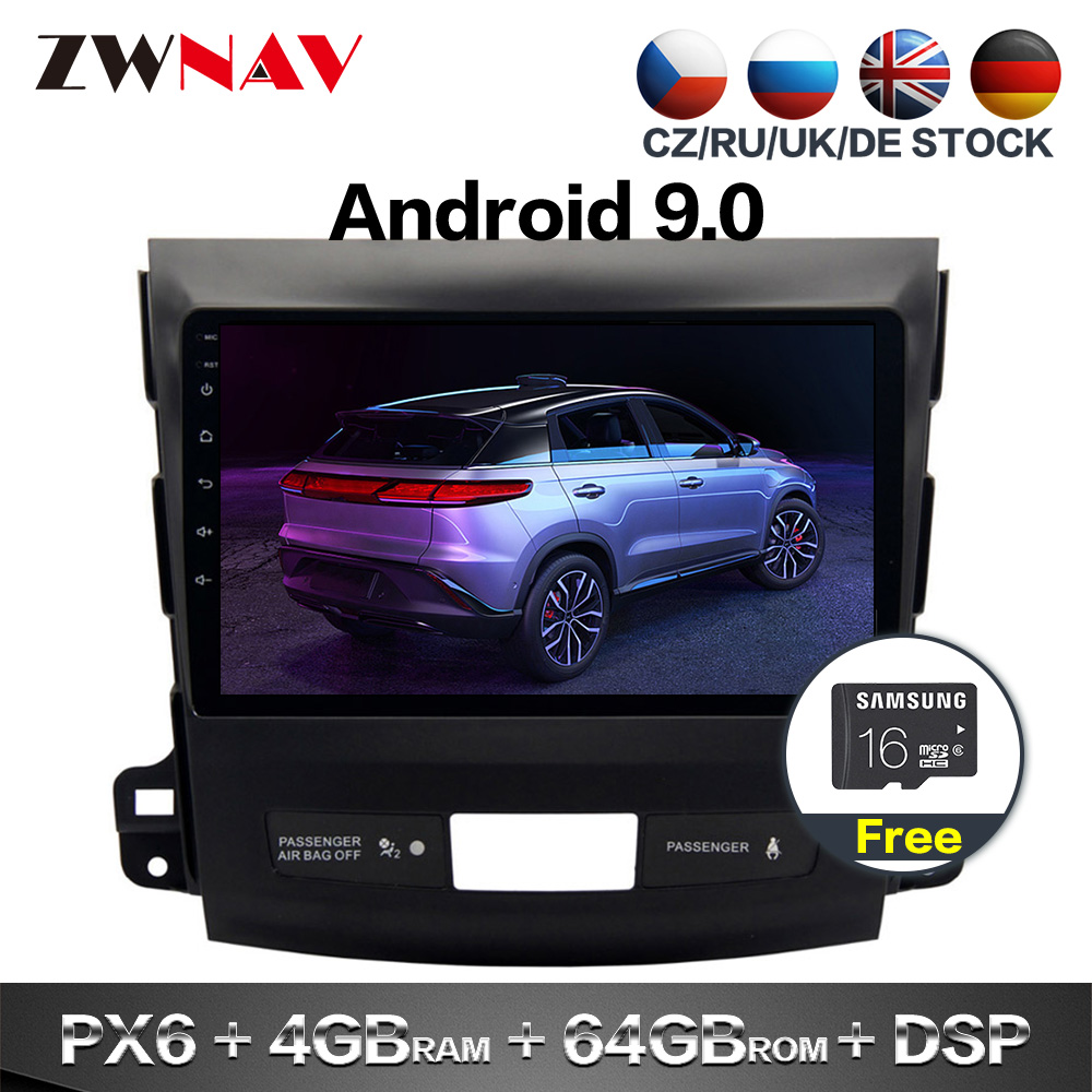 2 Din IPS Screen Android 9.0 Car Multimedia Player For Mitsubishi Outlander Car Audio Radio Stereo GPS Navi Head Unit Free Map