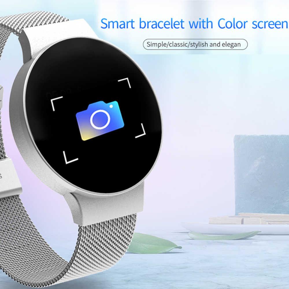 Новинка 2019, умные часы Q8, OLED, цветной экран, умные часы для женщин, модный фитнес-трекер, монитор сердечного ритма, браслет для мужчин, для длительного ожидания