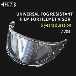 Image 3 - Soman Winter Anti Fog Motorhelm Films Universele Antisluier Patch Lens Film High Clear Voor Vizier Helmen Accessorie AV04